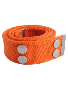 Dunderdon BE01 Canvasbelt - Orange/Chrome