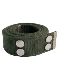 Dunderdon BE01 Canvasbelt - Olive/Chrome
