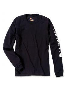 Carhartt EK231 T-Shirt Logo l/s - Black
