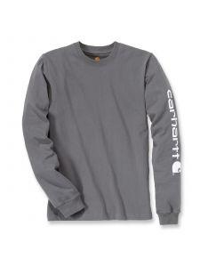 Carhartt EK231 T-Shirt Logo l/s - Charcoal