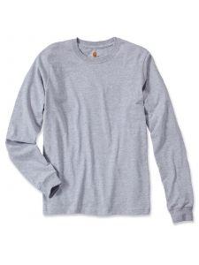Carhartt EK231 T-Shirt Logo l/s - Heather Grey