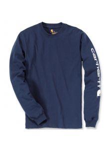 Carhartt EK231 T-Shirt Logo l/s - Navy