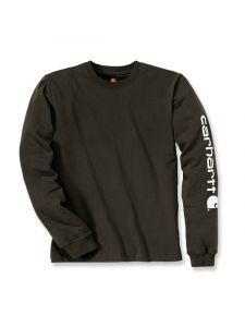 Carhartt EK231 T-Shirt Logo l/s - Peat