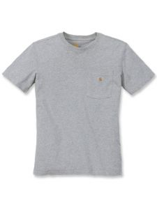 Carhartt 103067 Women's Pocket s/s T-Shirt - Heather Grey