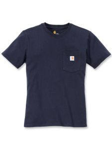 Carhartt 103067 Women's Pocket s/s T-Shirt - Navy
