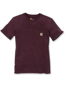 Carhartt 103067 Women's Pocket s/s T-Shirt - Deep Wine