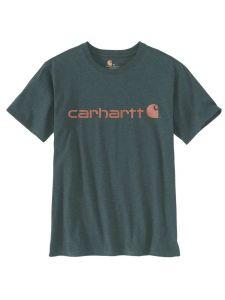 Carhartt 103592 Women's Logo T-Shirt s/s - Fog Green