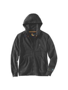 Carhartt 103851 Force Delmont full-zip hooded sweatshirt - Black heather