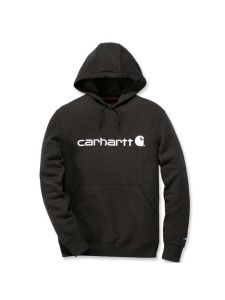 Carhartt 103873 Delmont Graphic Hooded Sweatshirt - Black Heather