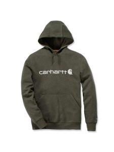 Carhartt 103873 Delmont Graphic Hooded Sweatshirt - Moss Heather