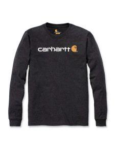 Carhartt 104107 l/s Signature Graphic T-Shirt - Carbon Heather
