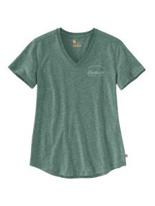 Carhartt 104227 Women's Lockhart Graphic T-Shirt - Musk Green Heather
