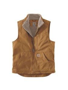 Carhartt 104277 Washed duck Sherpa lined mock neck vest