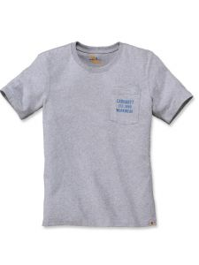 Carhartt 104363 Graphic Pocket T-Shirt - Heather Grey