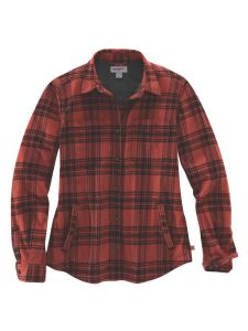 Carhartt 104518 Women's Hamilton Plaid Flannel Jacket - Redwood