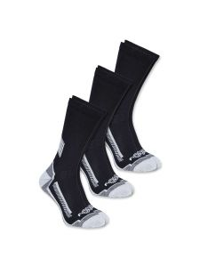 Carhartt A422-3 Force® Performance work crew sock 3-pair - Black