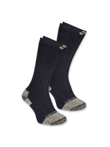 Carhartt A555 Steel Toe Work Boot Sock (2-pack) - Black