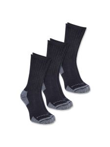 Carhartt A62 All Season Cotton Crew Work Sock (3-pack) - Black