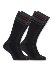 Carhartt A774-2 Cold Weather Thermal Sock 2-Pair - Black