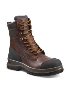 Carhartt F702905 Men's Detroit Rugged Flex® Waterproof Insulated S3 High Safety Work Boot - Dark Brown