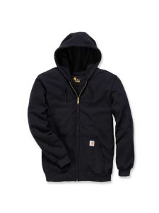 Carhartt K122 Midweight Hooded Zip Front Sweatshirt - Black