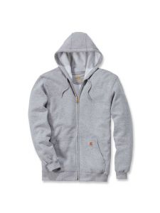Carhartt K122 Midweight Hooded Zip Front Sweatshirt - Heather Grey