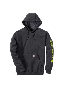Carhartt K288 Midweight Sleeve Logo Hooded Sweatshirt - Carbon Heather