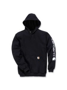 Carhartt K288 Midweight Sleeve Logo Hooded Sweatshirt - Black
