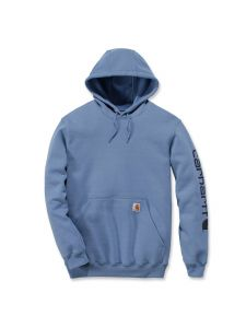 Carhartt K288 Midweight Sleeve Logo Hooded Sweatshirt - French Blue