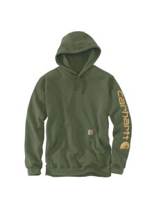 Carhartt K288 Midweight Sleeve Logo Hooded Sweatshirt - Winter moss heather
