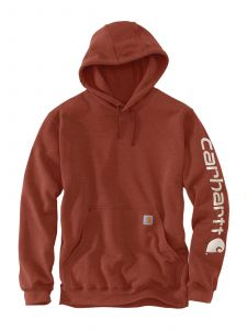 Carhartt K288 Hooded Sweatshirt Sleeve Logo