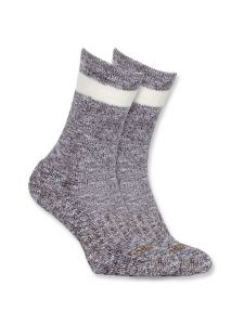 Carhartt WA768 Women's All Season Crew Sock - Carhartt Brown