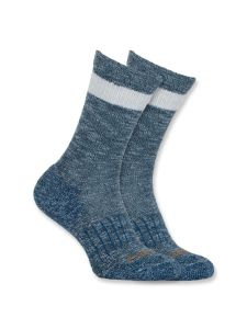 Carhartt WA768 Women's All Season Crew Sock - Medium Blue