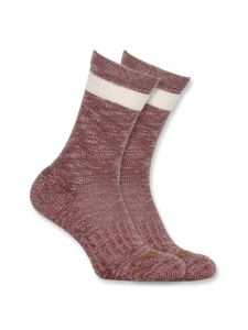 Carhartt WA768 Women's All Season Crew Sock - Medium Pink