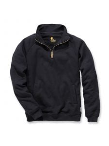 Carhartt K503 Midweight Quarter Zip Mock Neck Sweatshirt - Black