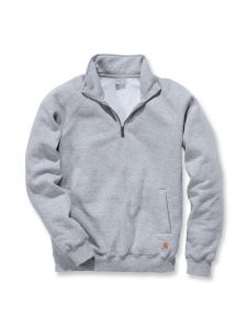Carhartt K503 Midweight Quarter Zip Mock Neck Sweatshirt - Heather Grey
