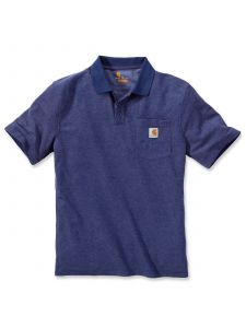 Carhartt K570 Contractor's Work Pocket Polo - D.Cobalt/B.Heather