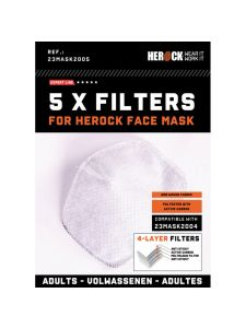 Herock Replaceable Filters for Face Mask 5-pack
