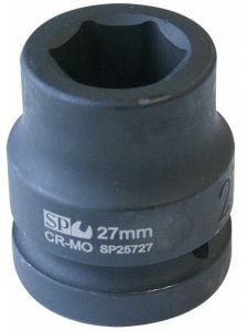 Socket 1' Dr Metric Impact 6 point - SP Tools
