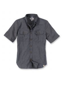 Carhartt S200 Fort Solid s/s Shirt - Black Chambray