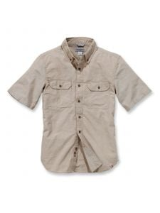 Carhartt S200 Fort Solid s/s Shirt - Dark Tan Chambray