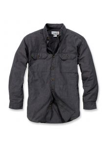 Carhartt S202 Fort Solid l/s Shirt - Black Chambray
