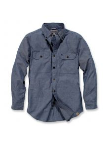Carhartt S202 Fort Solid l/s Shirt - Denim Blue Chambray