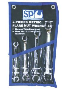 Flare Spanner Set 4pc Metric - SP Tools