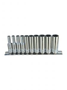 SP Tools SP20140 1/4''Dr Deep Socket Rail 10pc Metric - 12pt
