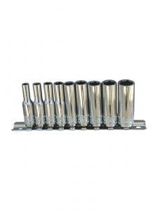 "SP Tools SP20143 1/4""Dr Deep Socket Rail 9pc SAE - 12pt"
