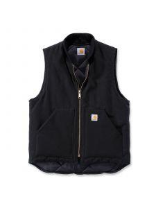 Carhartt V01 Duck Vest Arctic Quilt Lined V1 - Black