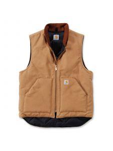 Carhartt V01 Duck Vest Arctic Quilt Lined V1 - C. Brown